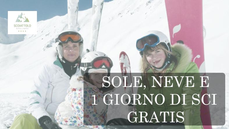 Offerta sole neve e un giorno di sci gratis a pampeago